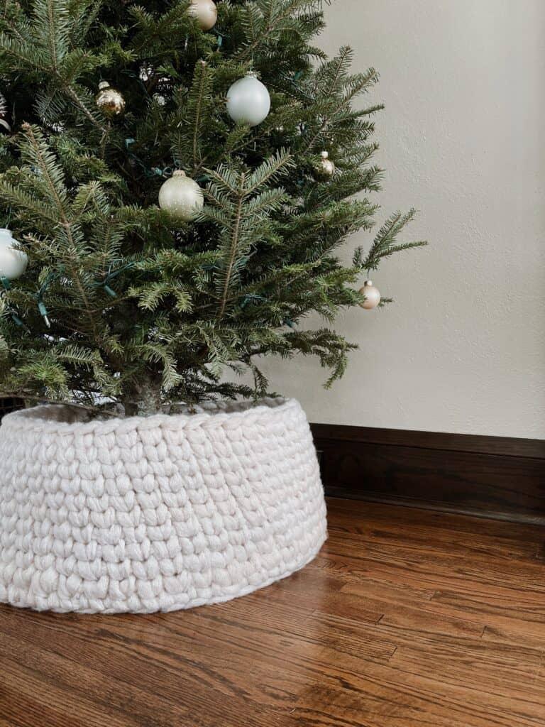 Crochet Christmas Tree Collar Pattern And Tutorial Originally Lovely